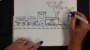 kids can draw easy train youtube