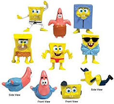 amazon com spongebob cake toppers cup cake decorations set of 8