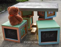 Play Table With Storage by Alphabet Blocks Inspired Play Table Toolbox Divas