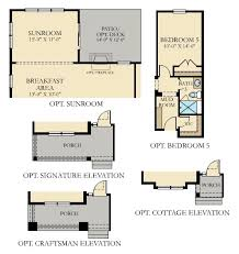 Sunroom Floor Plans by Danbury New Home Plan In Sandy Ridge By Lennar
