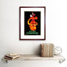 campari art advert bitter campari 1921 home deco black framed art print