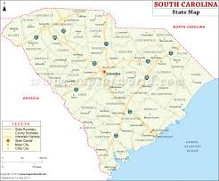 map of and south carolina south carolina state map