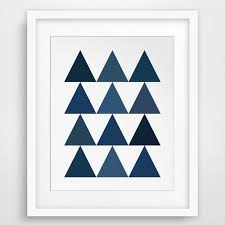 aliexpress buy geometric triangles canvas oil painting wall