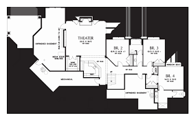 one level house plans with basement large one story house plans new 32 big e story house floor plans 1
