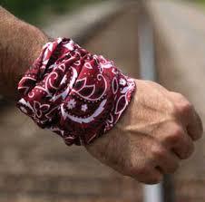 bandana wristband scarf wristband how to wear scarf how to tie scarf k9 clothing