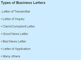 types of business letter and samples letters font