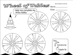 2 x tables worksheet wheel of tables a year 4 times tables worksheet