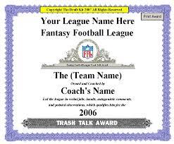 fantasy award maker football awards