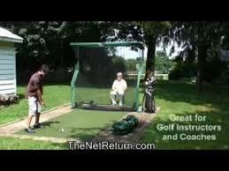 Golf Net For Backyard by The Best Indoor Golf Practice Net Youtube