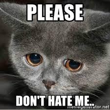 Cute Cat Meme Generator - please don t hate me sad cute cat meme generator