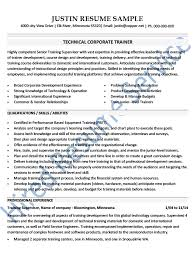 Instructional Design Resume Examples by 12 Sample Corporate Trainer Resume Recentresumes Com