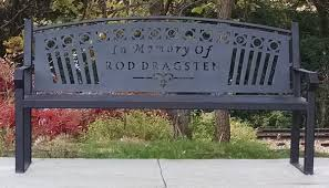 memorial benches park benches custom designed johns welding shop of tomah wi
