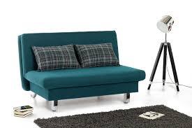 funktions sofa restyl schlafsofa in petrol mit karierten rückenkissen