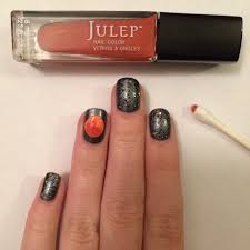 halloween nail art tutorial once in a blood moon