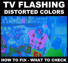 Sony Tv Blinking Red Light Tv Displaying Different Distorted Flashing Colors How To Fix