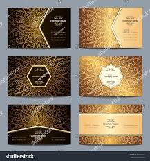 set vintage business card islam arabic stock vector 509630167