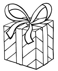 coloring pages of presents christmas present template virtren com
