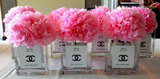 tissue flower centerpieces for paris themed party holy trinity