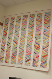 a great way to use scraps thin strips sewn together and then cut