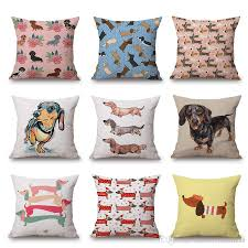 Cushion Covers For Sofa Pillows by 2018 New Style Dachshund Cushion Cover Sofa Pillow Case Love Heart