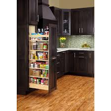 kitchen cabinet pantries shop rev a shelf 8 in w x 59 31 in h wood 1 tier cabinet pantry at