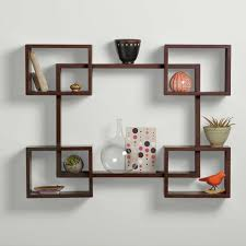 small wooden shelves for walls