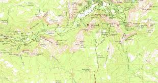 Map Of Yosemite Topographic Map Excerpt Of Yosemite Valley