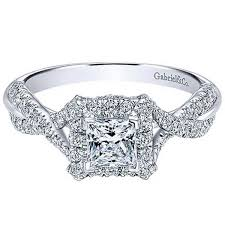 preset engagement rings gabriel 14k white gold halo engagement ring