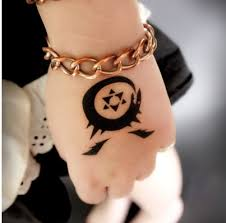 fullmetal alchemist anime ouroboros tattoo waterproof summer style