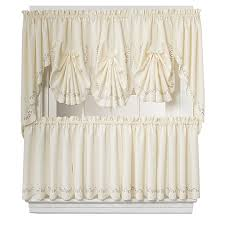 Valances Com Forget Me Not Window Curtain Tier Pairs And Valances In Ecru Rose