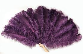 feather fans 4 layers ostrich feather fan