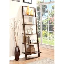 leaning bookcase leaning ladder bookcase black u2013 wealthycircle club
