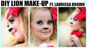 diy lion make up for halloween youtube