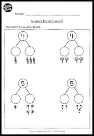 kindergarten math number bond worksheets and activities little