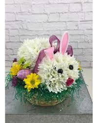 easter flower arrangements easter bunny amling s flowerland