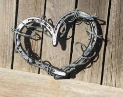 heart shaped horseshoes horseshoe heart etsy