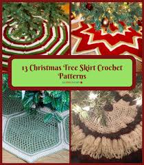 13 tree skirt crochet patterns allfreecrochet