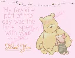 Classic Pooh Baby Shower Classic Winnie The Pooh Thank You Card Instant Download