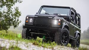 land rover classic lifted east coast defender u0027s honey badger is a corvette powered stick