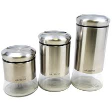 Stainless Steel Canister Sets Kitchen Food Storage Containers