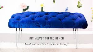 Home Button Decorations by Diy Velvet Tufted Bench Home Decor Tutorial Interior Design