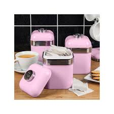 pink canisters kitchen swan products retro storage kitchen canisters pink set of 3