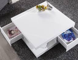 table basse carrée laqué blanc le bois chez vous