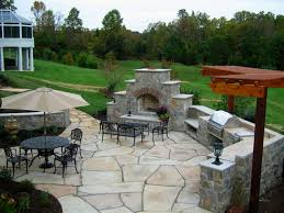 exteriors excellent patio backyard decor with stone floor and