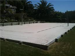 Backyard Sand Backyard Volleyball Court Crafts Home