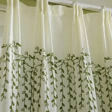 Country Living Curtains Botanical Embroidery Poly Cotton Blend Country Living Room Curtains