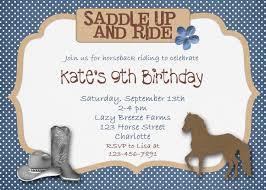 horse birthday invitations u2013 gangcraft net