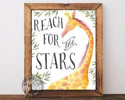 Stars Nursery Decor by Reach For The Stars Nursery Wall Art Nursery Decor Baby Shower