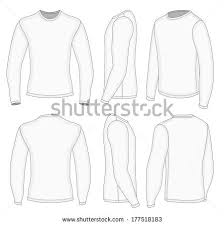 all six views mens white long stock vector 177518183 shutterstock