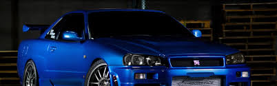 nissan skyline wallpaper download wallpaper 3840x1200 nissan skyline gtr r34 blue front